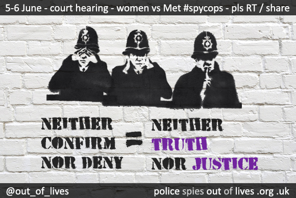 "PRESS RELEASE: Women's legal challenge to Met's ""Neither Confirm Nor Deny"" stance in undercover relationships case"