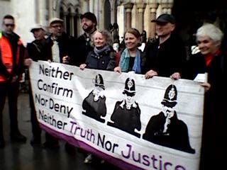 Call for demonstration as police seek to shut down undercover relationships Human Rights case